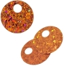 Sequins Hologram 20mm 4mm Hole Round Orange
